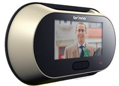 For the Front door - to see who is on the other side-Brinno Digital Peep Hole Viewer - Shut the front door.