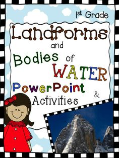 Breathtaking Unit Study! Show your students what landforms really look like in this Powerpoint presentation with gorgeous photographs! Activities include assessments, cut and paste, booklets, and matching card games. Check the PREVIEW!