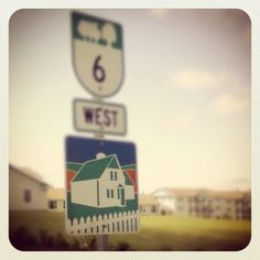 road sign to the anne of green gables house on prince edward island.