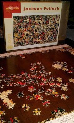 El puzzle más difícil del mundo. Intentar montar la obra Convergence de Jackson Pollock.