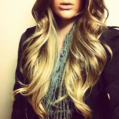 big loose curls . . .