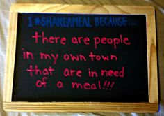 I #ShareAMeal Becaus