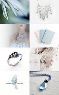 Soft Blue ♥  #estyseller #treasury #bestofetsy