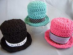 Mini Top hat , my amigurumis might need...