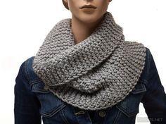 Вязание шарфа снуда спицами для начинающих видео