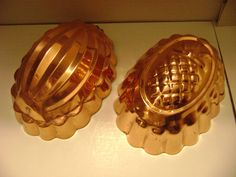 Set of 2 Vintage Tin Lined Copper Mold by Copral of Portugal #dtrice
