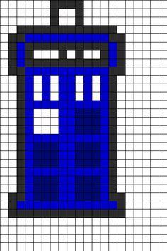 TARDIS Perler Bead Pattern | Bead Sprites | Misc Fuse Bead Patterns