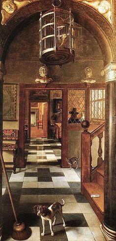 1662 Samuel van Hoogstraten (1627-1678) View of a Corridor