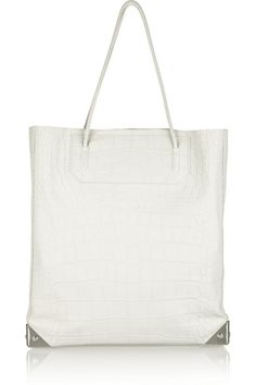 Prisma croc-effect leather tote by Alexander Wang