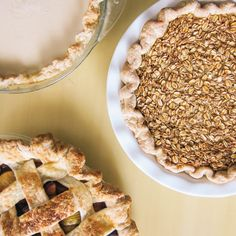 Pie Tips from Four and Twenty Blackbirds -- To prevent crust from getting soggy, sprinkle a little flour & sugar over the crust before filling with ingredients; it will absorb some of the excess juices and allow the crust to crisp.