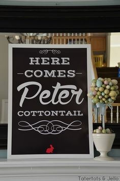 Free Easter Peter Cottontail Printable at Tatertots and Jello #DIY #Easter