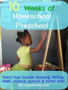 Homeschool Preschool Activities (w/Free Printable + a Link Party) - 2 Groovy Moms