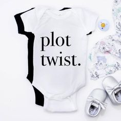 Plot Twist onesie, funny baby onesie, Coupon valid for one grandchild, coupon valid for one grandchild onesie, pregnancy announcement onesie, baby announcement onesie, pregnancy announcement grandparents, cute way to announce pregnancy