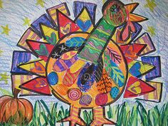 Turkeys with Crayon on Marker Resist #kids #projects #thanksgiving #thankful #turkey #crafts #diy