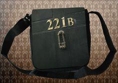 "SHERLOCK BBC ""221 B Door""  *NEW* Small Messenger Bag Great Gift Sherlock Holmes on Etsy, $26.99"
