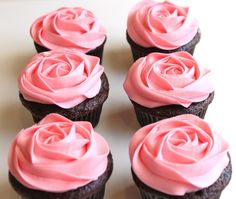 Rose Cupcake Icing (white instead)