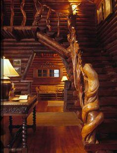 Lodgepole pine.  Miller Architects, Bozeman, Montana