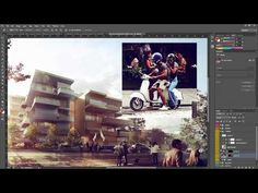 ▶ Architectural Rendering Tutorial - Post Production in Photoshop - Inserting People - YouTube