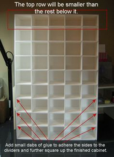 Foam board punch storage! What a great idea! I think I'd turn it over so the small ones are on the bottom.