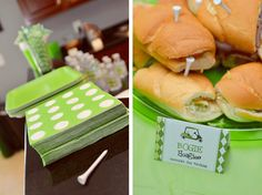 Using tees as toothpicks for a golf themed party