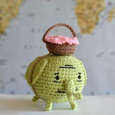 """free pattern : Tree Trunks Elephant pattern by """"Pops de Milk"""""""