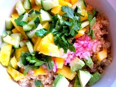 Making this! Looks so refreshing! | Quinoa Salad with Pineapple,Mango and Avocado