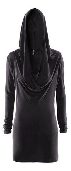 H&M Divided Grey - black hood dress