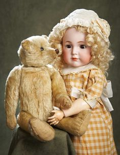 """German Bisque Child Doll """"Mein Liebling"""",117,by Kammer and Reinhardt. Circa 1912. http://Theriaults.com"""