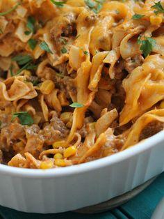 """Cute Casserole Recipes You Must Try: Enchilada Pasta Casserole"" #casserole #casseroles #recipe #recipes"