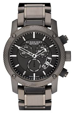 Burberry Sport Chronograph Watch Gunmetal in Silver