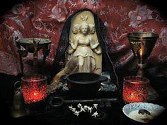 Lovely altar to Hekate  http://witchofstitches.blogspot.com/2010_05_01_archive.html