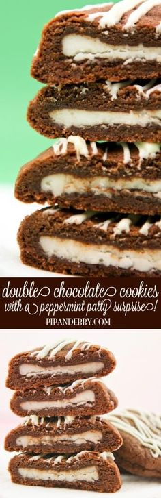 Double Chocolate Cookies with a Peppermint Patty Surprise - this is ...