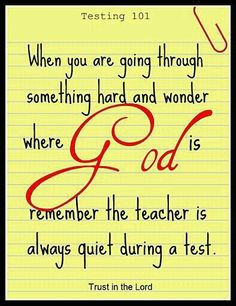 Trust in the Lord....