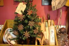 vignett, rusti snowflak, ornament, dollar tree bin, rusti star