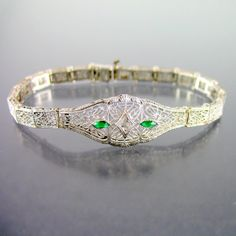 Vintage Edwardian Sterling Filigree Bracelet