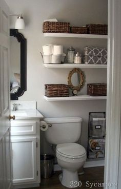 Like the shelves for storage of those random bathroom objects, but maybe not right above the toilet.