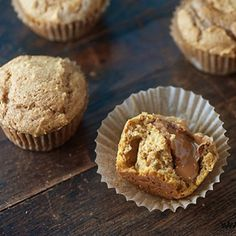 Pumpkin Muffins with Biscoff and Nutella Filling