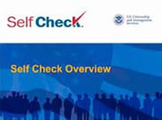 Be informed, know your rights : Self check, E-verify (DVD  CD-ROM) by U.S. Department of Homeland Security.