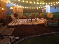 Here is my version of a pallet deck. It was hard work making pallets work, but I think it turned out great. It's also a great way to recycle something that's otherwise discarded.