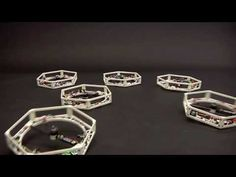 Self-assembling multi-copter demonstrates networked flight control