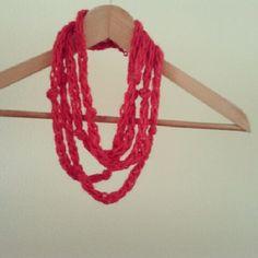 Árný Hekla(r) finger knitting - necklace