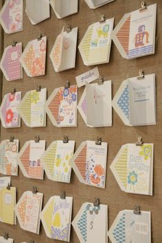 Creative way to display greeting cards!