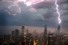 This photo shows lightning striking Chicago's Willis Tower Wednesday! 6-12-13