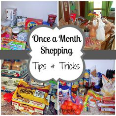 Once a Month Shopping - Tips & Tricks / good money saving blog.