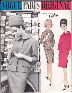 1960s Vogue Paris Original Pattern 1202 by allthepreciousthings, $125.00. Oh woooow. #60s #retro #vintage
