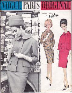 1960s Vogue Paris Original Pattern 1202 by allthepreciousthings, $125.00. Oh woooow. #60s #retro #vintage