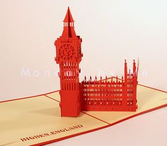 3D Popup Card Big Ben England on Etsy, $9.99