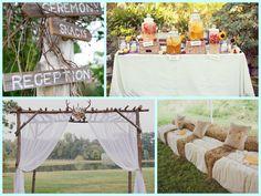 farm wedding, chair, antler, fall farm