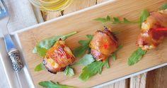 bacon bite, honeymustard, galleri, delici appet, honey mustard, glaze chicken, appetizers, baconwrap chicken, mustard glaze