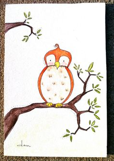 OriginalBecause A Little Owl Said So by JFishStudio on Etsy, $26.00
